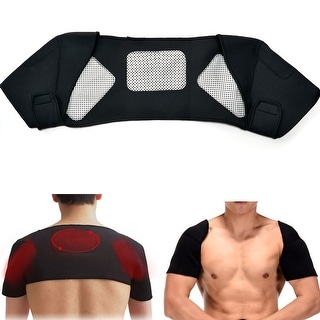 Link to Magnetic Double Shoulder Support Brace Adjustable Wrap Belt Band for Gym Sport Similar Items in Team Sports Equipment