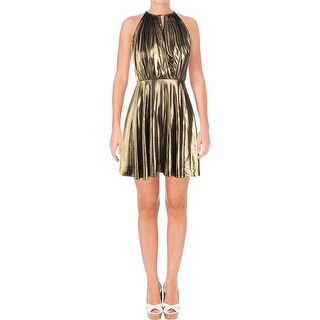 Aqua Womens Party Dress Metallic Sleeveless