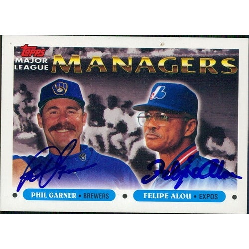 Signed Managers Phil Garner Felipe Alou 1993 Topps Baseball Card By Phil Garner And Felipe Alou Au