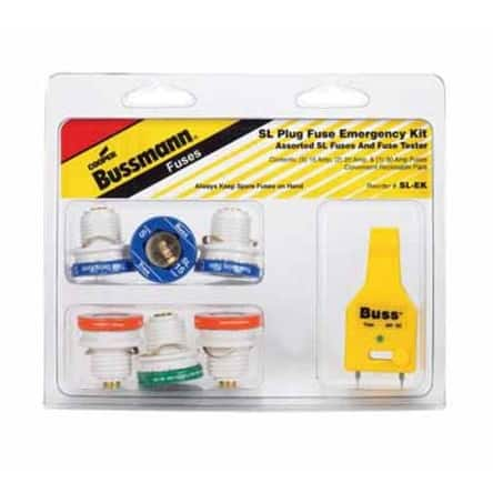 Bussmann SL-EK Plug Fuse Emergency Kit, 5 Count