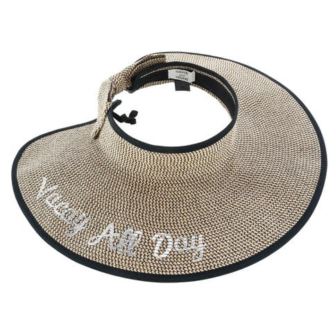 David & Young Women's Vacay All Day Straw Roll Up Visor