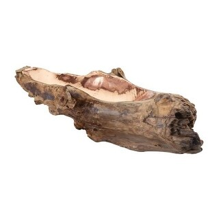 Dimond Home 162-012 Long Teak Root Bowl With Copper Insert