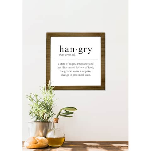 DesignStyles Home and Kitchen Décor - Hangry Wall Plaque