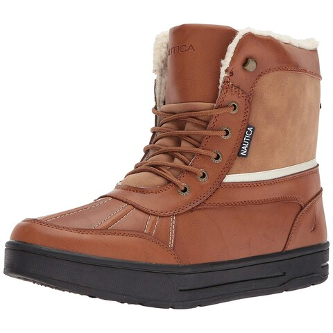 Nautica Mens Lockview Round Toe Mid-Calf Cold Weather Boots