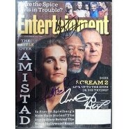Signed Amistad Matthew McConaughey Morgan Freeman Anthony Hopkins SIgned Entertainment Weekly Mag