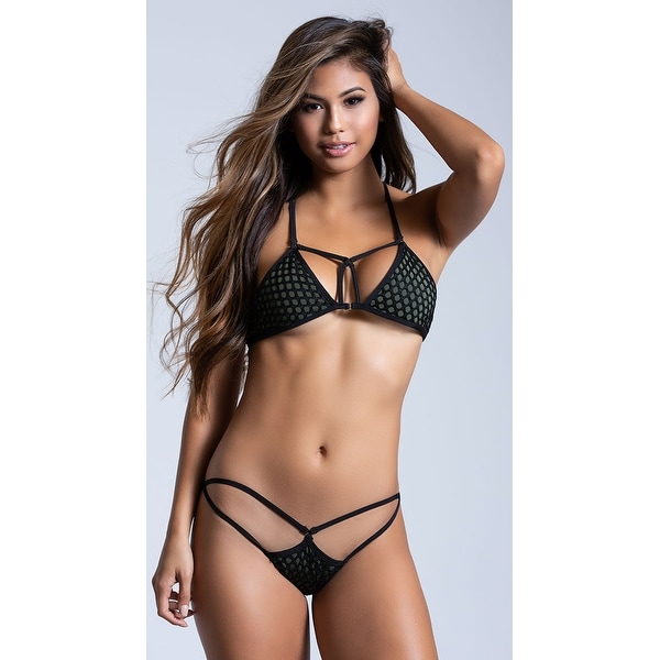 bc3d1a028b7 Shop Yandy Commanding Fishnet Bikini Bottom - Olive - Free Shipping On  Orders Over  45 - Overstock - 27737287