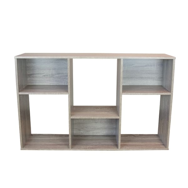 Slide Logic 4 Tier Asymmetric Bookcase Console Overstock 32278274