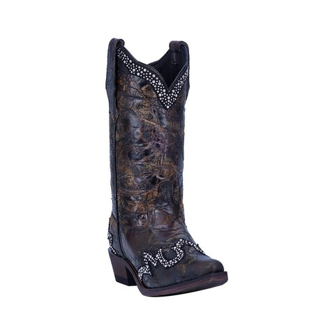 Laredo Western Boots Womens Don't Be Shy Snip Toe Black