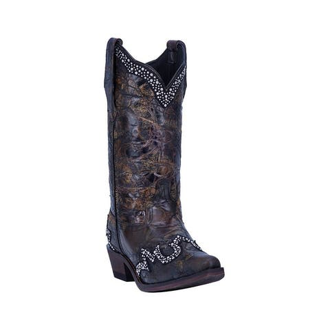 Laredo Western Boots Womens Don't Be Shy Snip Toe Black