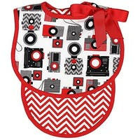 Raindrops 22205 Camera Bib & Burp Set, Red