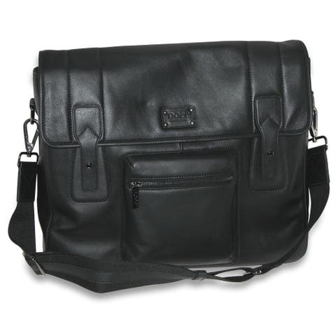 DOPP Men's Leather Gear Messenger Bag - one size