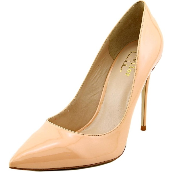 Nicole Miller Maison Women Pointed Toe Patent Leather Nude Heels