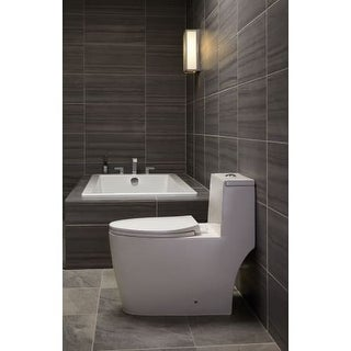 """Mirabelle MIRSKS6032 Sitka 60"""" X 32"""" Acrylic Soaking Bathtub for Drop In or Undermount Installations with Reversible Drain"""