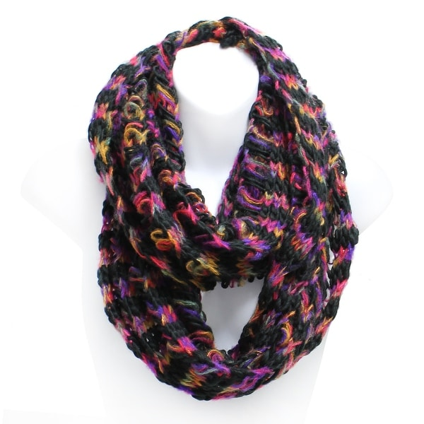 bc759c547 Shop Multicolor Chunky Knit Winter Infinity Scarf - On Sale - Free ...