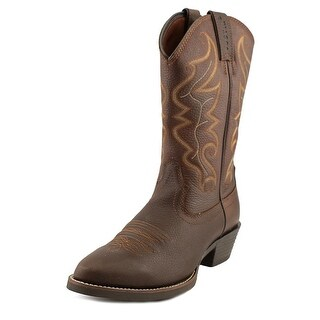 Justin Boots All Star Men  Round Toe Leather Brown Western Boot