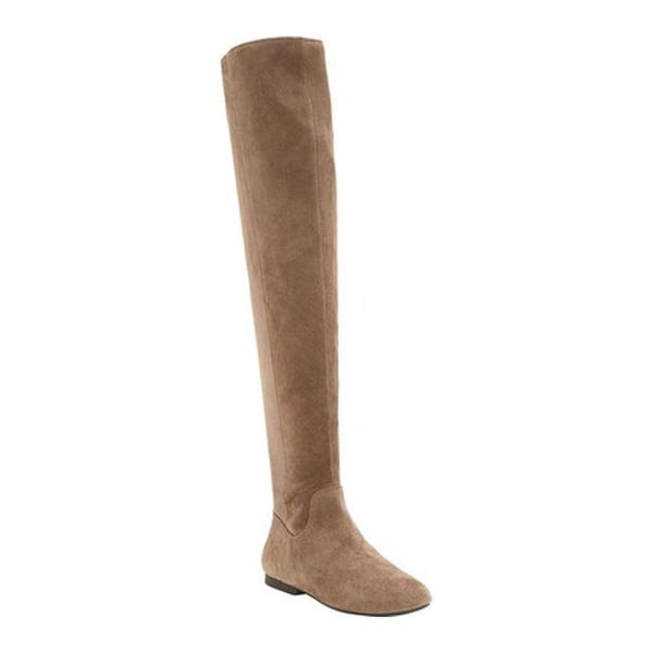 82b91fcd236 Shop Lucky Brand Women s Gavina Over the Knee Boot Brindle Suede ...