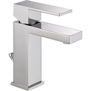 Delta 567LF-PP  Angular Modern Single Hole Bathroom Faucet with Pop-Up Drain Assembly