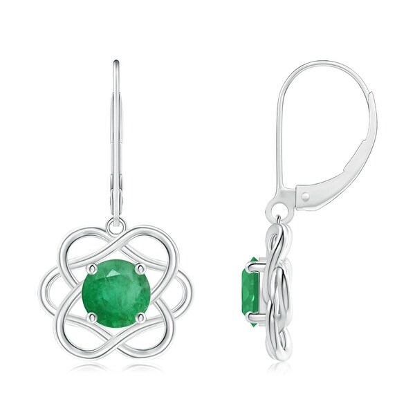 Angara Leverback Emerald Dangle Earrings in Yellow Gold Z8rApRB5z