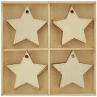 Stars-Lucky Dip Wood Flourish Pack 20/Pkg