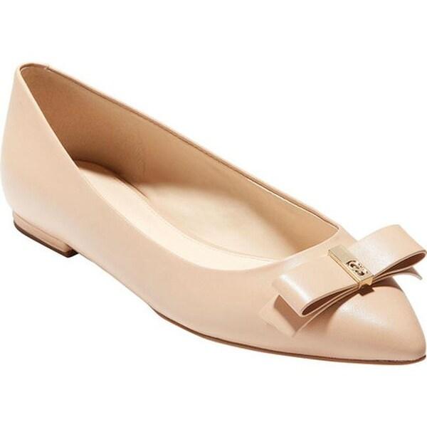 088d28f15 Shop Cole Haan Women's Elsie Bow Skimmer Ballet Flat Nude Leather ...