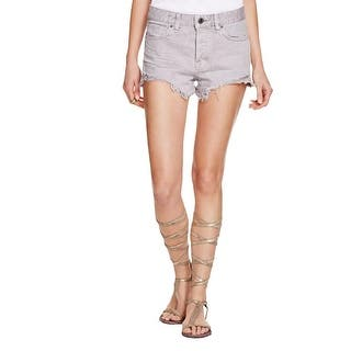 Free People Womens Denim Shorts White Wash Frayed Hem|https://ak1.ostkcdn.com/images/products/is/images/direct/c8e51fca840a4124305d7103d6fc28789a71c7f9/Free-People-Womens-Denim-Shorts-White-Wash-Frayed-Hem.jpg?impolicy=medium