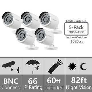 Lot of 5 - Samsung SDC-9443BC Weatherproof 1080p High Definition Camera