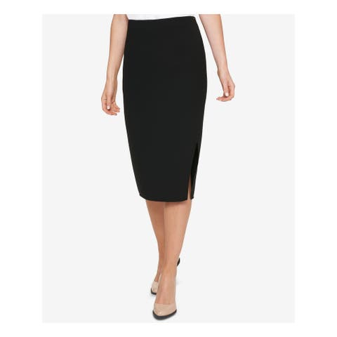 DKNY Womens Navy Above The Knee Pencil Wear To Work Skirt Size 4