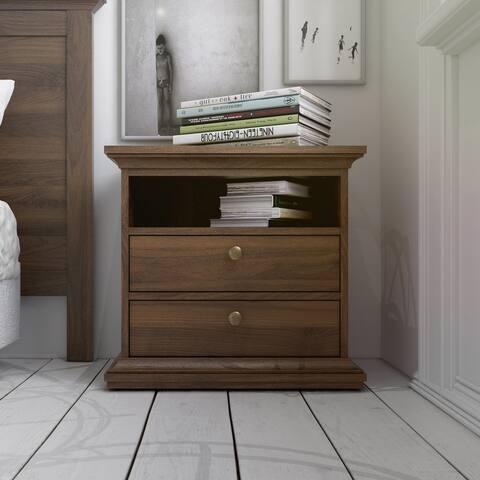 Porch & Den Virginia 2-Drawer and 1-Shelf Nightstand