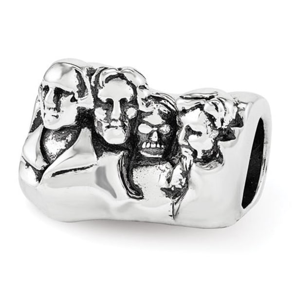Sterling Silver Reflections Mount Rushmore Bead (4mm Diameter Hole)