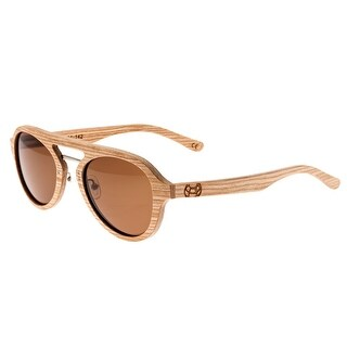 Earth Wood Cruz Unisex Wood Sunglasses - 100% UVA/UVB Prorection - Polarized Lens - Multi