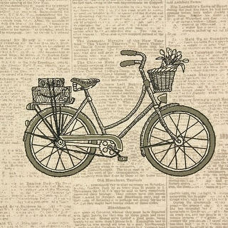 """Handmade Collection Classic Bicycle Stamped Embroidery Kit-1 - 11""""x11"""" stitched in thread"""