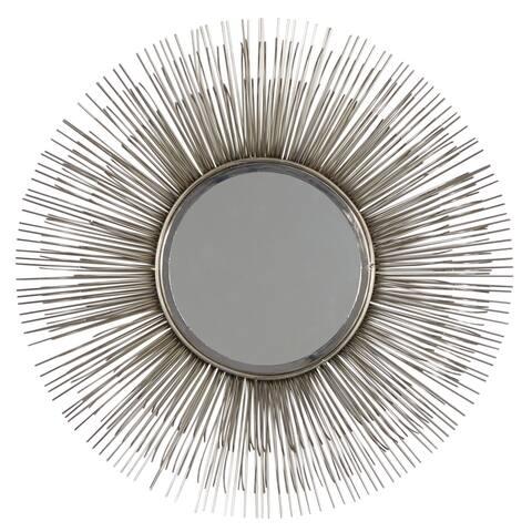 Silver Iron Modern Wall Mirror 29 x 29 x 4 - 29 x 4 x 29