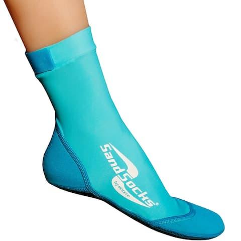 Sand Socks Classic High Top Neoprene Athletic Socks - Marine Blue