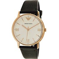 Emporio Armani Men's Dress  Brown Leather Quartz Dress Watch