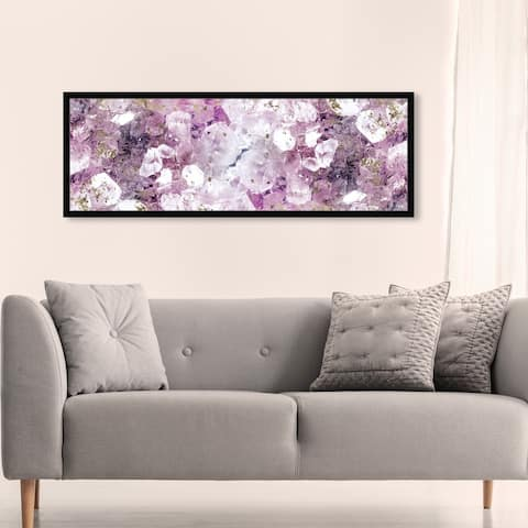 Oliver Gal 'Crystal Romance' Abstract Wall Art Framed Print Crystals - Purple, Gold