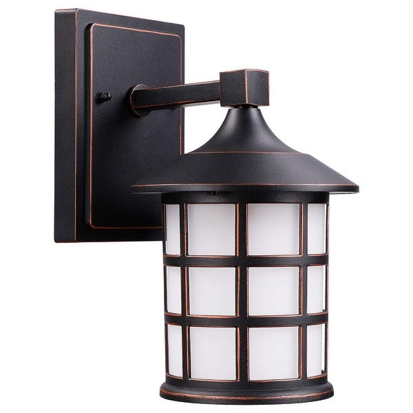 shop 9w led vintage outdoor wall light 3000k warm white 500lm etl