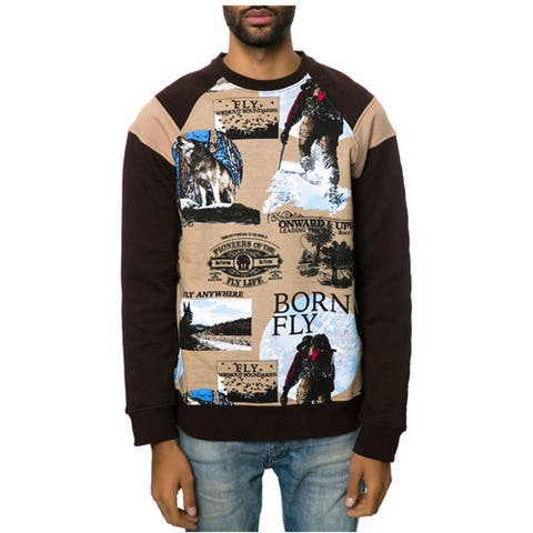 Born Fly Mens The Collateral Crewneck Sweatshirt