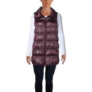 Eileen Fisher Womens Outerwear Vest Down Funnel Neck
