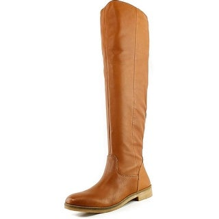 Lucky Brand Generall Women Round Toe Leather Tan Over the Knee Boot