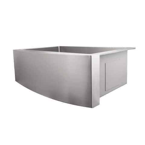 ZLINE Farmhouse Single Bowl Sink in DuraSnow® with Bottom Grid