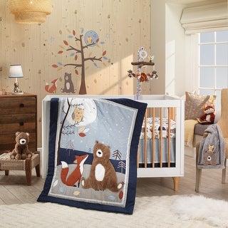 Link to Lambs & Ivy Sierra Sky Blue/Gray Woodland Nursery 3-Piece Baby Crib Bedding Set Similar Items in Bedding Sets