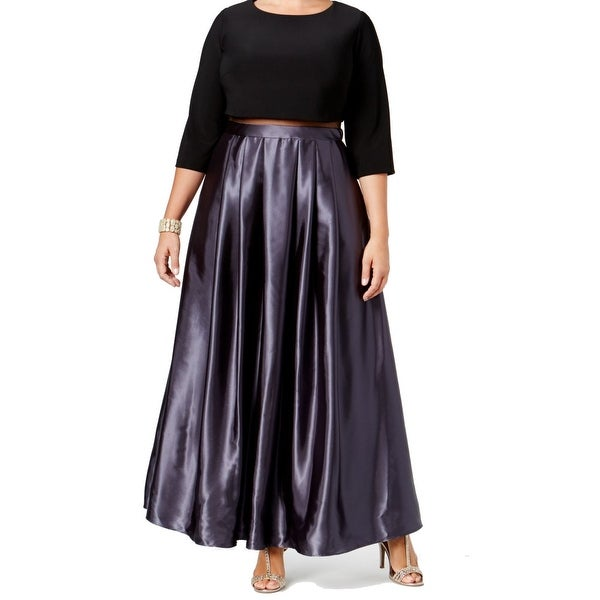 2337040a0a5 Shop Betsy   Adam NEW Black Coal Women s Size 16W Plus Pleated Mesh ...