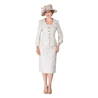 Link to Giovanna Collection Women's 2-pc Novelty Wide Collar Skirt Suit Similar Items in Suits & Suit Separates