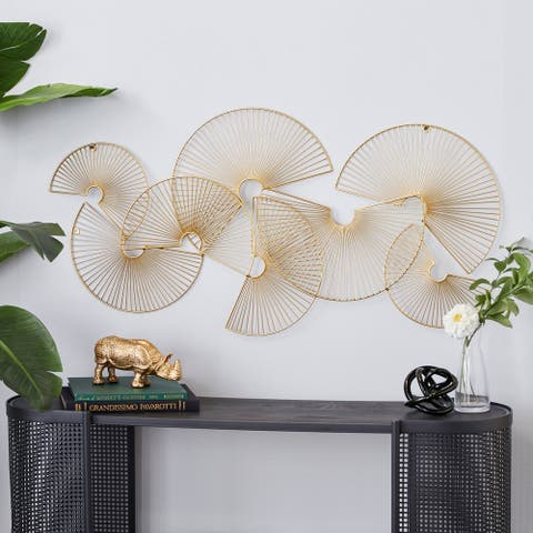 CosmoLiving by Cosmopolitan Gold Metal Wall Decor 45 x 22 In - 1 x 18 x 1