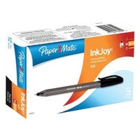 Paper Mate Inkjoy Ballpoint Pens, 1.0mm, Black Ink, Box of 12