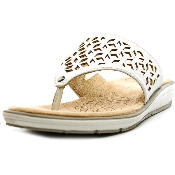 Naturalizer Ginny Women White Smooth Sandals
