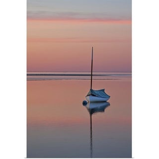 """""""Sailboat and buoy at sunset."""" Poster Print"""