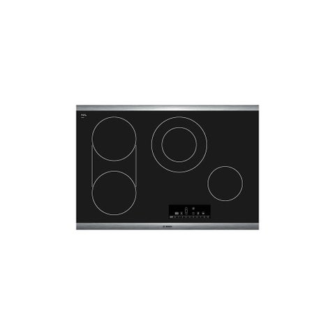 Bosch NET8066 30 Inch Electric Cooktop with PreciseSelect Temperature Selection from the 800 Series - STAINLESS STEEL - N/A