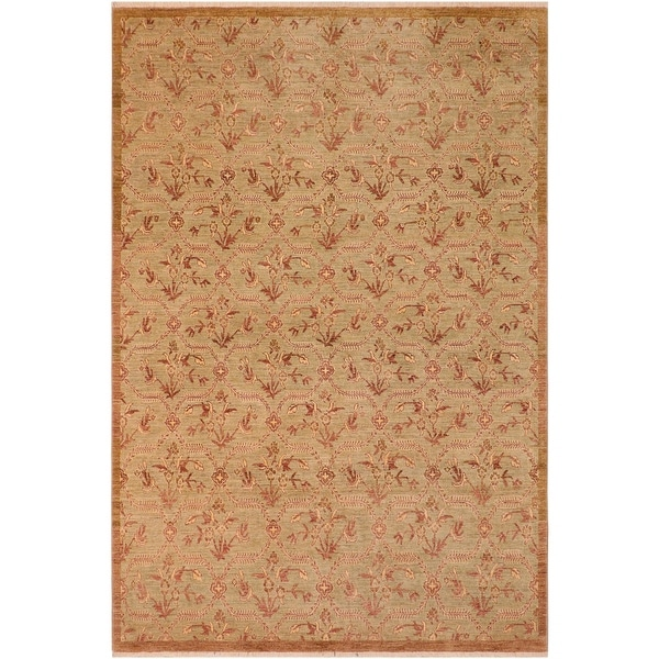 """Shabby Chic Ziegler Mavis Hand Knotted Area Rug -8'0"""" x 9'10"""" - 8 ft. 0 in. X 9 ft. 10 in.. Opens flyout."""