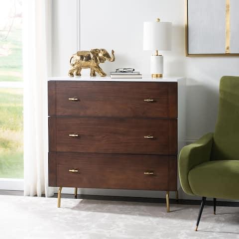SAFAVIEH Genevieve 3-Drawer Storage Bedroom Dresser